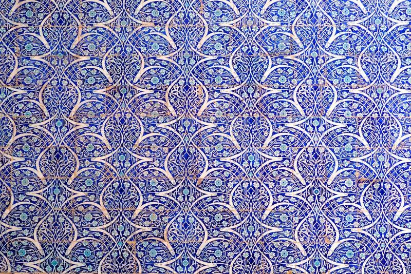 Fondo abstracto de paredes de mosaico mallorquín fotos de archivo