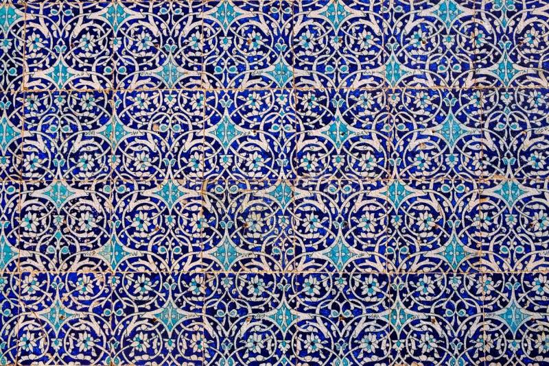 Fondo abstracto de paredes de mosaico mallorquín imagenes de archivo