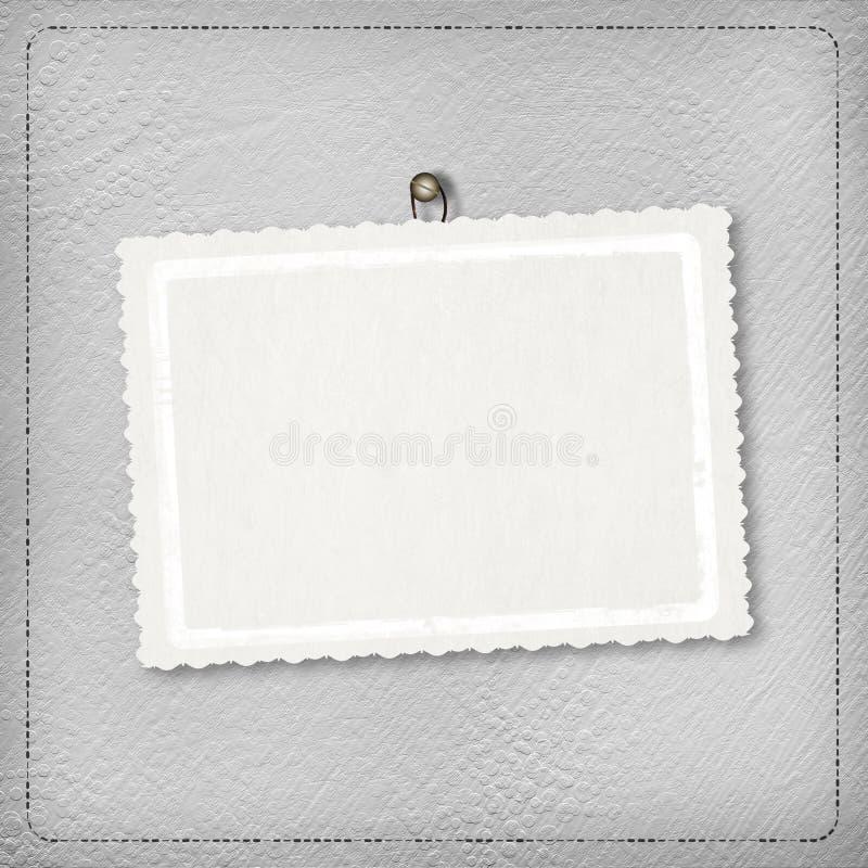 Fondo abstracto de plata con la tarjeta libre illustration