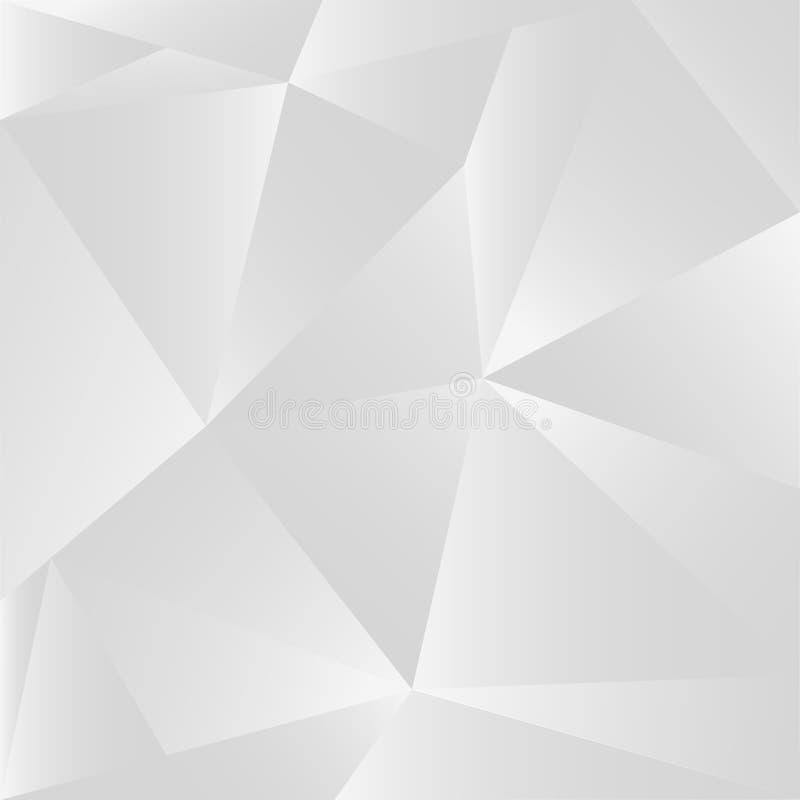 Fondo abstracto de plata del ejemplo del polígono libre illustration