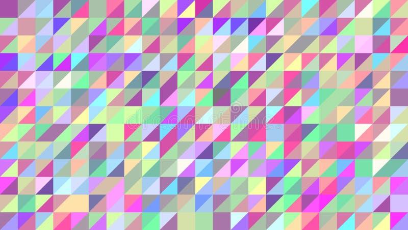 Fondo abstracto de triángulos coloreados, el ejemplo horizontal del vector Modelo con un modelo geométrico, un mosaico libre illustration
