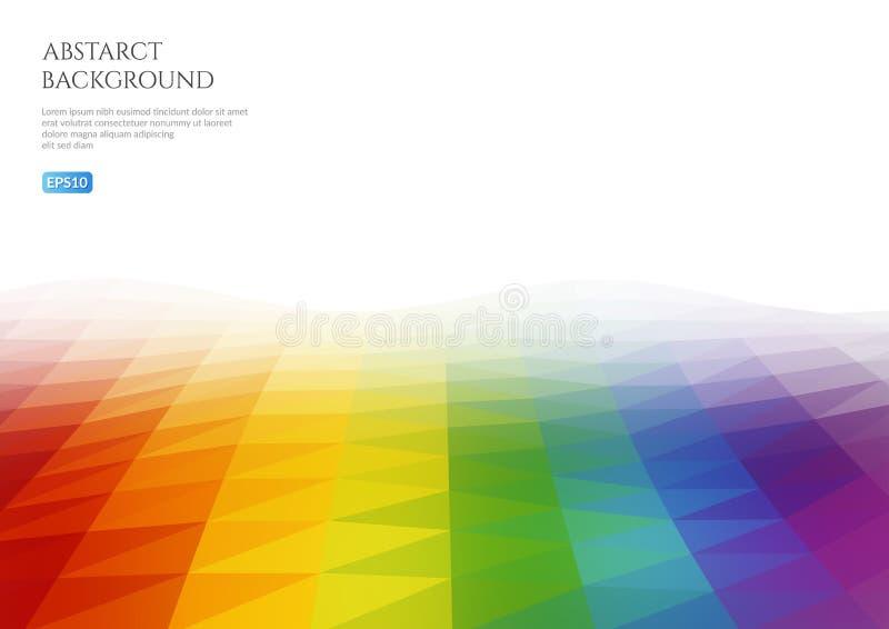 Fondo abstracto de triángulos Espacio blanco para el texto stock de ilustración