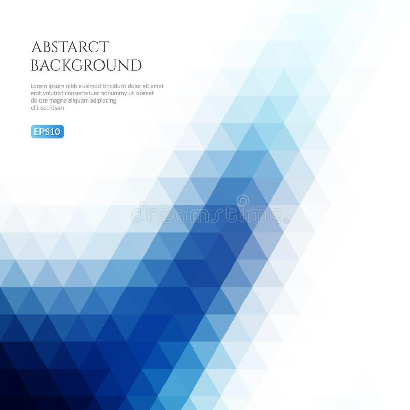 Fondo abstracto de triángulos Textura geométrica volumétrica stock de ilustración