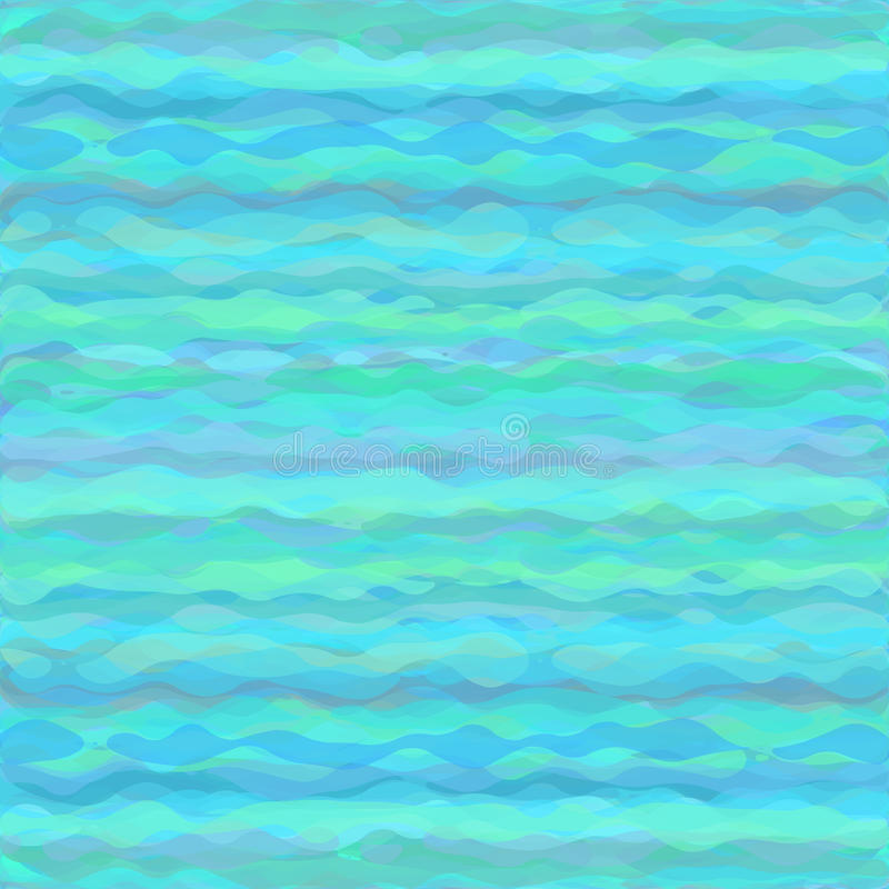 Fondo abstracto del agua en sombras del azul y libre illustration