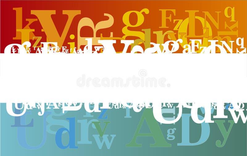 Fondo abstracto del alfabeto imagen de archivo
