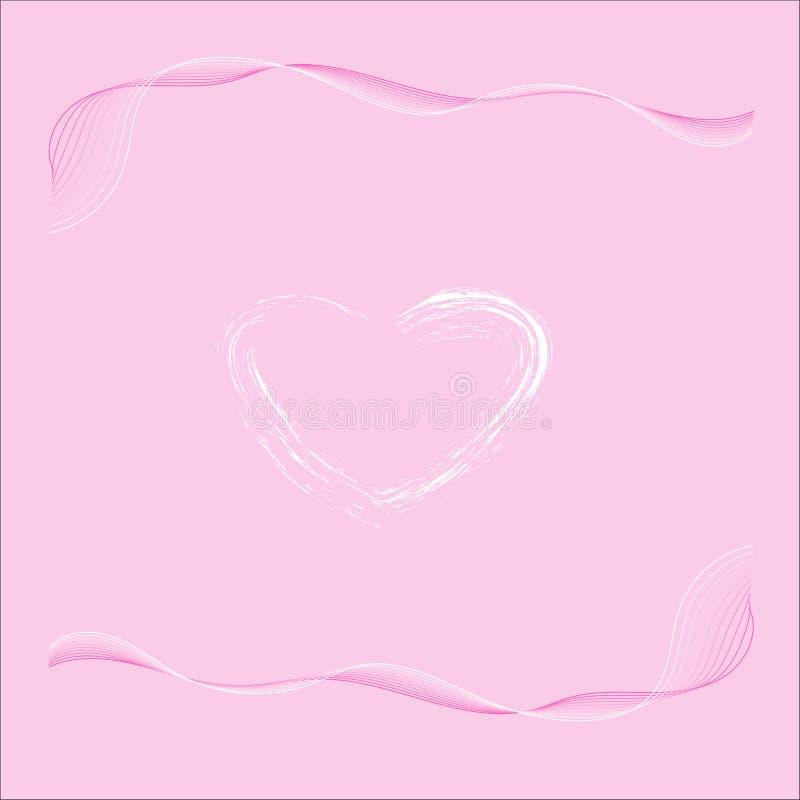 Fondo abstracto del amor ilustración del vector
