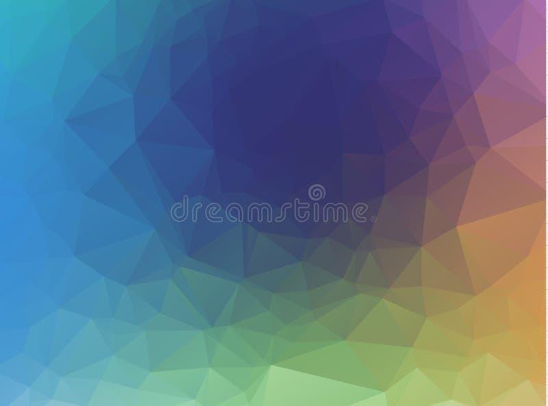 Fondo abstracto del arco iris que consiste en triángulos coloreados Color de fondo en colores pastel del triángulo abstracto de l ilustración del vector
