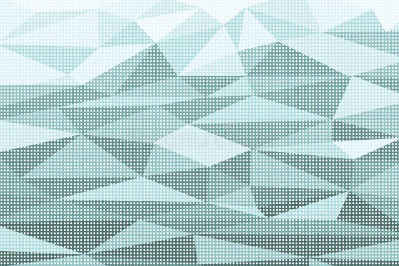 Fondo abstracto del arte pop del polígono con efecto de la trama ilustración del vector