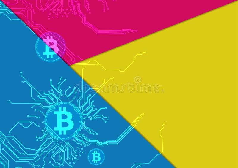 Fondo abstracto del bitcoin Diseño de la ilustración ilustración del vector
