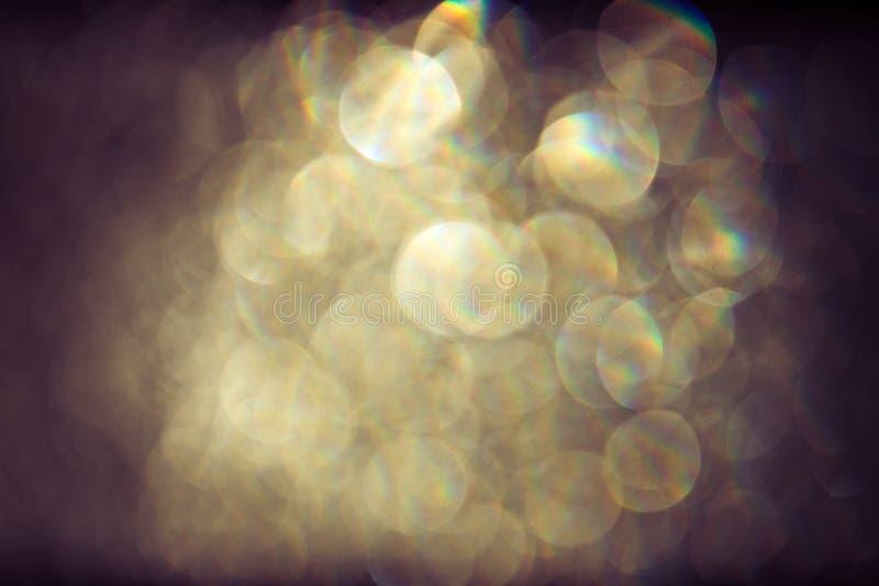 Fondo abstracto del bokeh con las luces que brillan intensamente imagen de archivo
