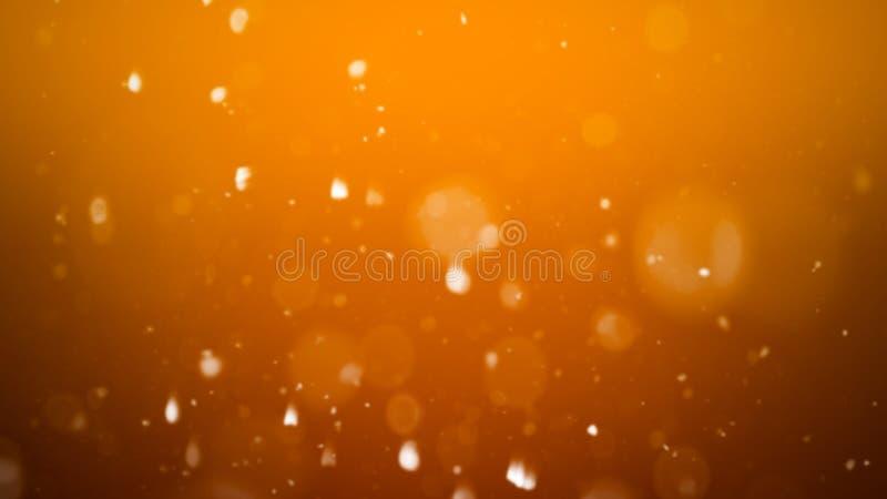 Fondo abstracto del bokeh del oro p?rticulas de polvo reales con las estrellas de llamarada reales de la lente luces del brillo stock de ilustración