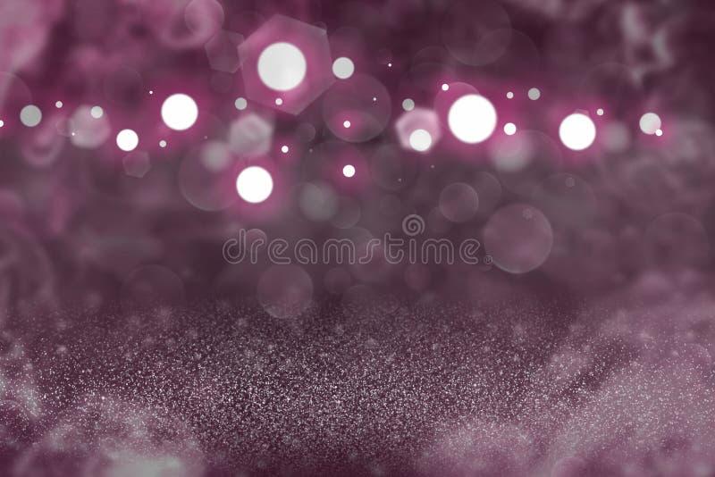 Fondo abstracto del brillo del rosa del bokeh defocused brillante lindo de las luces, textura de la maqueta del festival con el e imagen de archivo