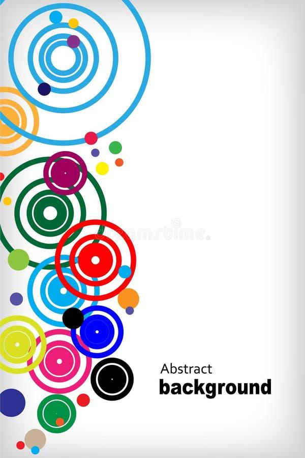 Fondo abstracto del círculo ilustración del vector
