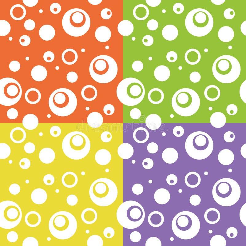 Fondo abstracto del círculo de la diversión del color fotografía de archivo libre de regalías