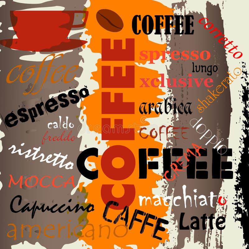 Fondo abstracto del café imagen de archivo libre de regalías