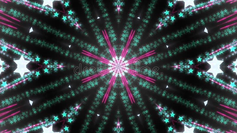 Fondo abstracto del caleidoscopio con los detalles y los elementos brillantes ilustración del vector