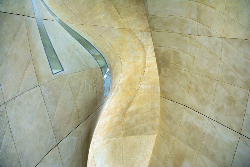 Fondo abstracto del cemento concreto de la curva de la pared de los detalles de la arquitectura fotografía de archivo