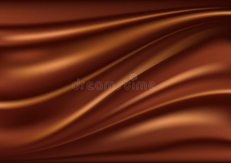 Fondo abstracto del chocolate stock de ilustración