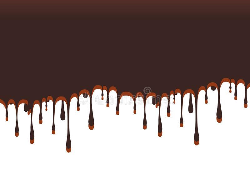Fondo abstracto del chocolate Diseño de la plantilla para el papel pintado culinario imagen de archivo libre de regalías