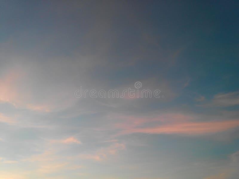 Fondo abstracto del cielo de la puesta del sol imagen de archivo