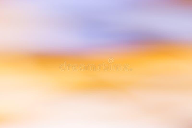 Fondo abstracto del cielo de la puesta del sol Fondo borroso del concepto imagen de archivo libre de regalías