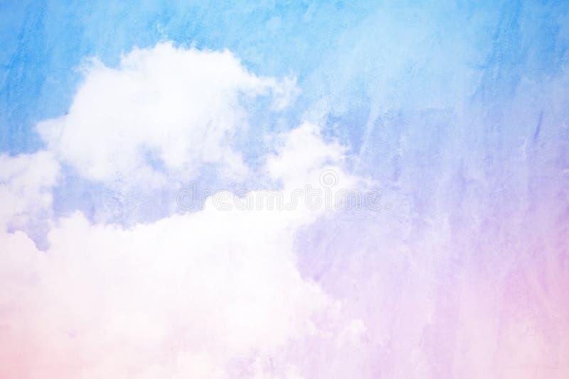 Fondo abstracto del cielo y del hormigón con el azul y el perno soñadores fotos de archivo