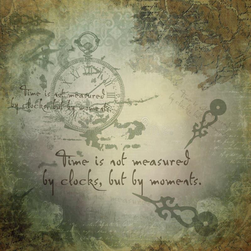 Fondo abstracto del collage - reloj del vintage - ejemplo del collage - Steampunk libre illustration