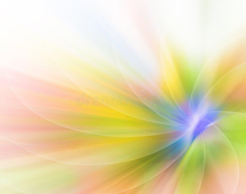 Fondo abstracto del color bajo la forma de flor stock de ilustración