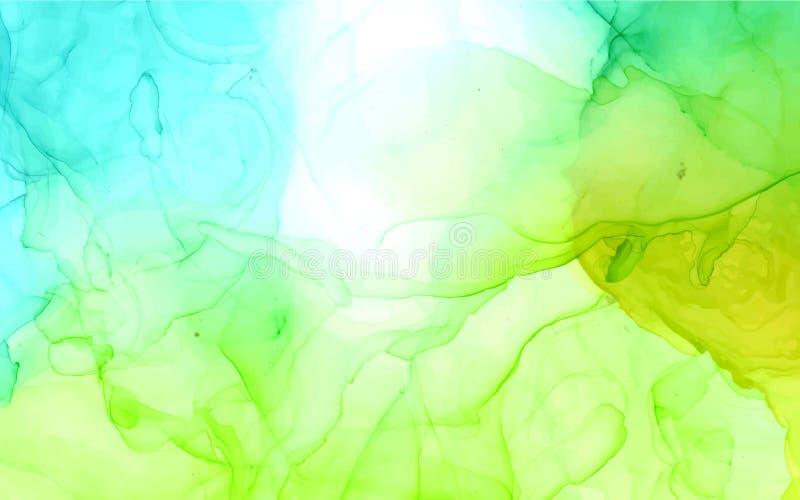 Fondo abstracto del color brillante del vector de la tinta del alcohol ilustración del vector