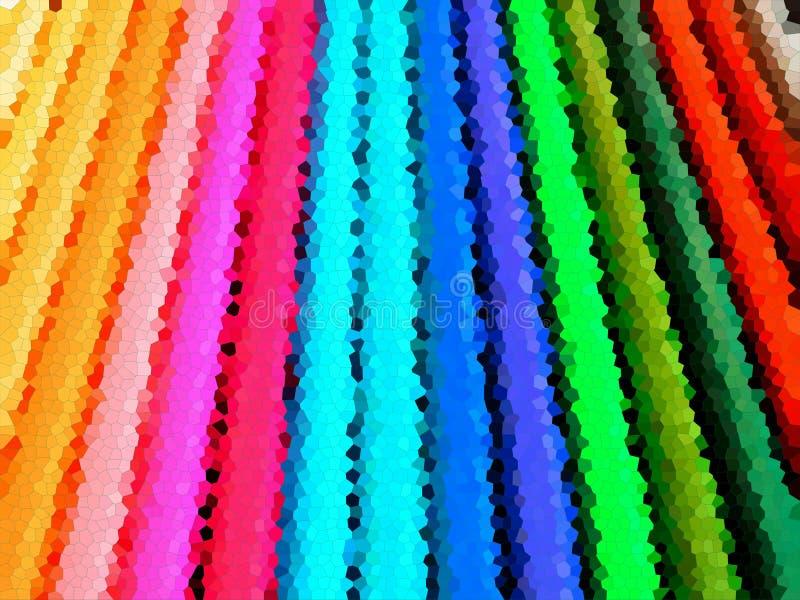 Fondo abstracto del color con pequeños hexágonos del mosaico libre illustration