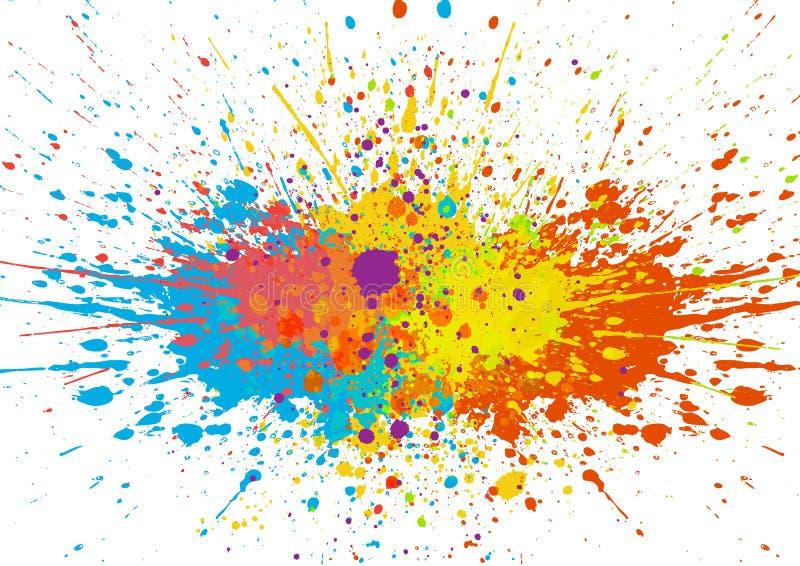 Fondo abstracto del color de la salpicadura Diseño del vector del ejemplo stock de ilustración