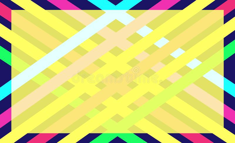 Fondo abstracto del color geométrico ilustración del vector
