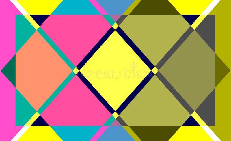 Fondo abstracto del color geométrico stock de ilustración