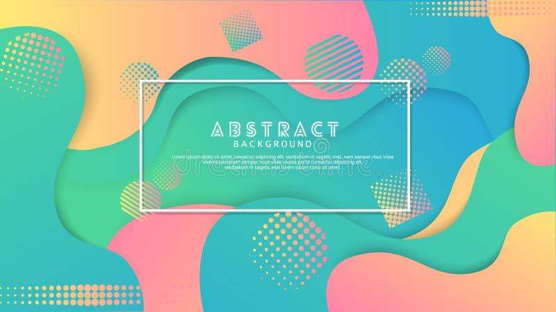 Fondo abstracto del color l?quido de la gradaci?n Dise?o futurista y elegante stock de ilustración