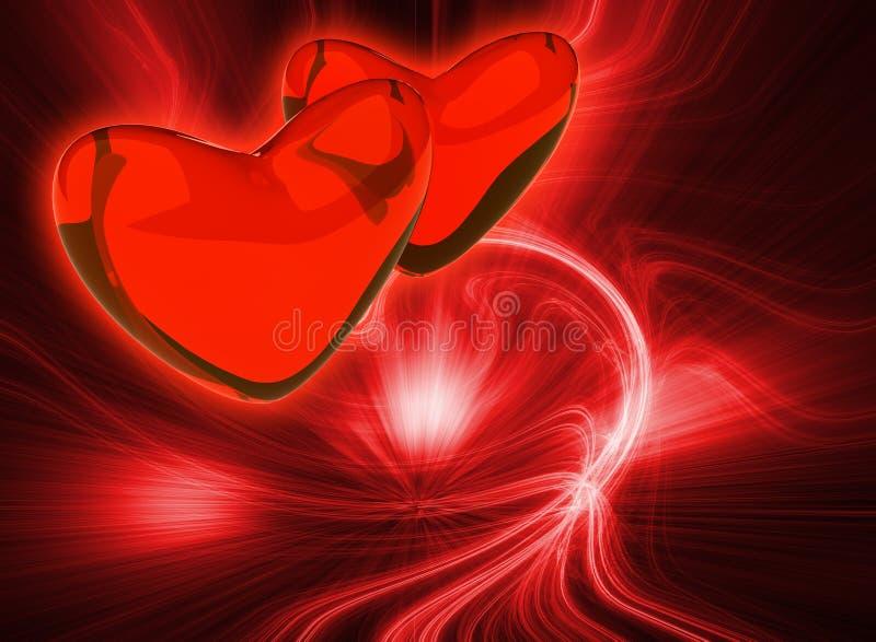 Fondo abstracto del color rojo ilustración del vector