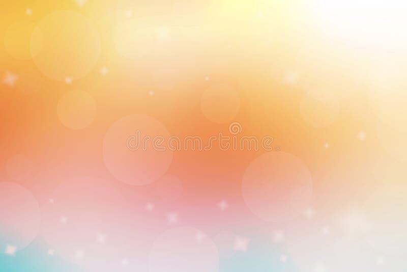 Fondo abstracto del color Tono del color en colores pastel con el bokeh y el ligh imágenes de archivo libres de regalías