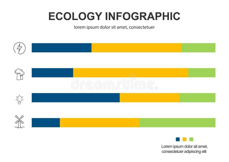 Fondo abstracto del concepto de la ecolog?a Ejemplo infographic del vector ilustración del vector