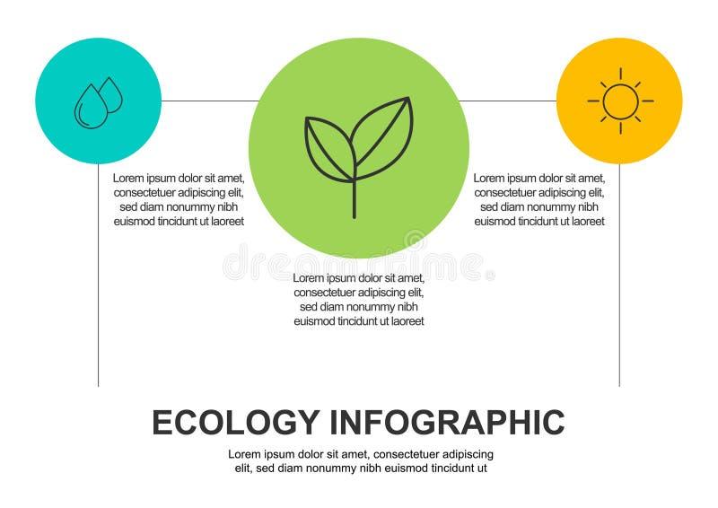 Fondo abstracto del concepto de la ecolog?a Ejemplo infographic del vector libre illustration