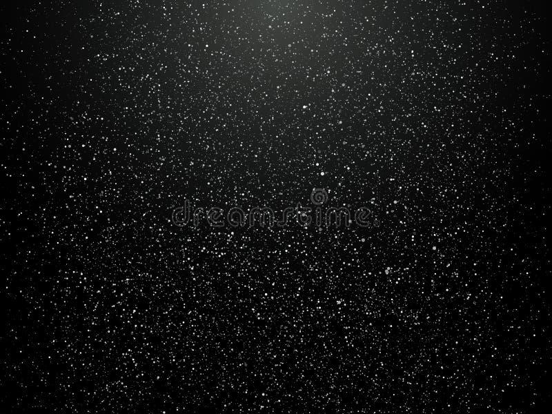 Fondo abstracto del copo de nieve Caída de la nieve con la nieve acumulada por la ventisca libre illustration