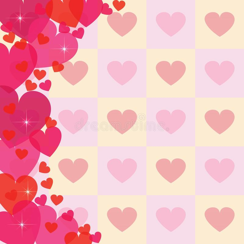 Fondo abstracto del corazón stock de ilustración