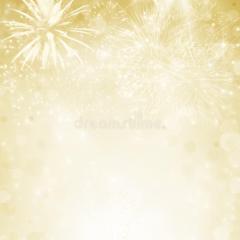 Fondo abstracto del día de fiesta con los fuegos artificiales ilustración del vector