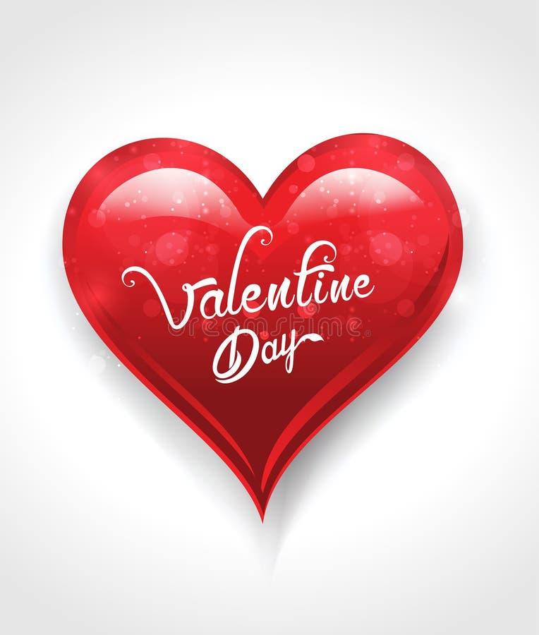 Fondo abstracto del día de San Valentín con el corazón ilustración del vector