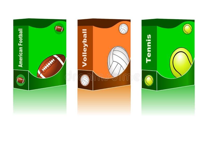 Fondo abstracto del deporte stock de ilustración