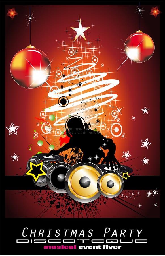 Fondo abstracto del disco de la música de la Navidad stock de ilustración