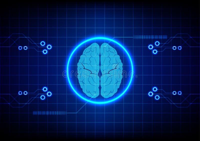 Fondo abstracto del diseño de concepto de la tecnología del cerebro Illustratio libre illustration