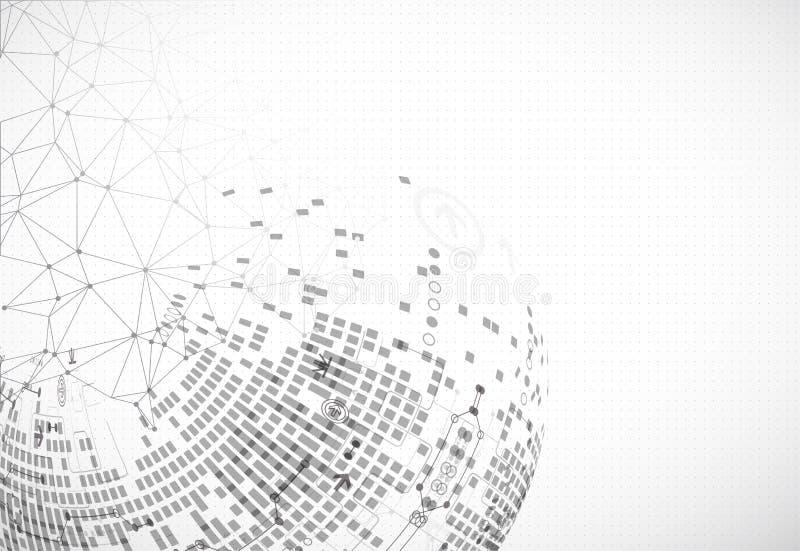 Fondo abstracto del diseño de la luz de la tecnología de comunicación stock de ilustración
