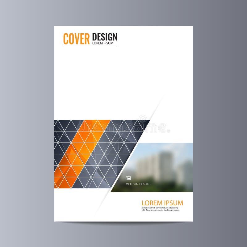 Fondo abstracto del diseño del aviador plantilla del folleto stock de ilustración