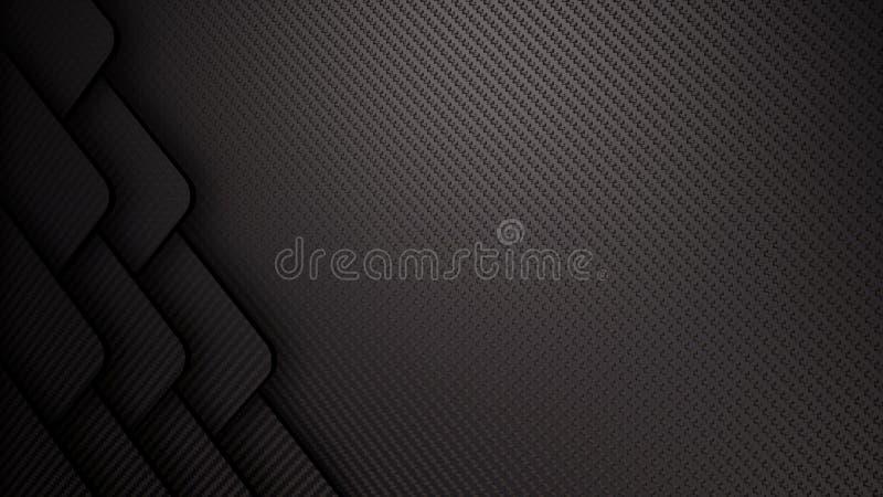 fondo abstracto del ejemplo de la fibra de carbono 3D stock de ilustración