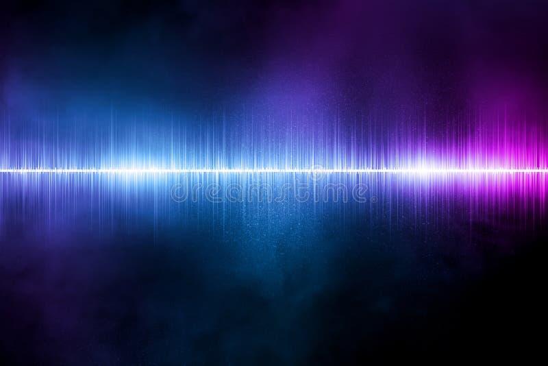 Fondo abstracto del ejemplo de la onda acústica stock de ilustración