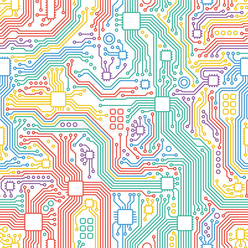 Fondo abstracto del ejemplo de la placa madre de la tecnología stock de ilustración
